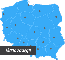 Mapa zasięgu RENTAL point